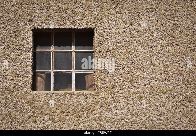 Germany, Bonn, Close up of old barn window - Stock Image