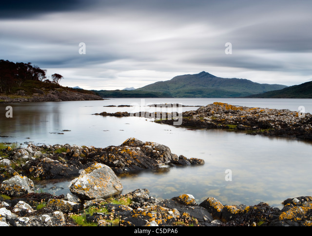 Loch Sunart near Salen, Highland, Scotland, UK - Stock Image