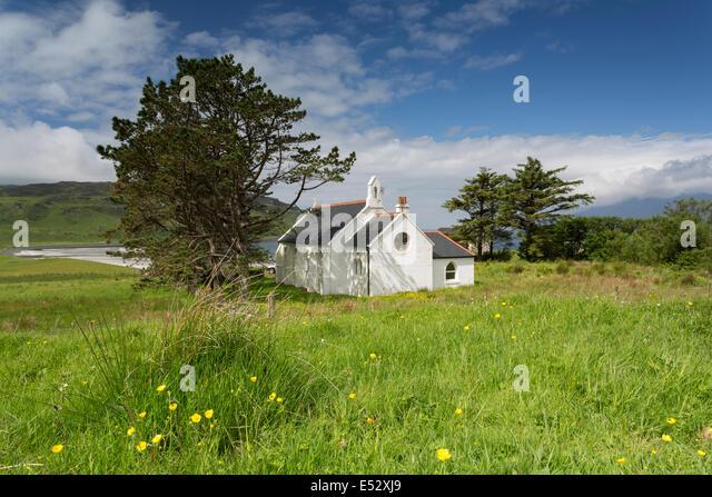St Donnan's Catholic Church on the Isle of Eigg. - Stock-Bilder