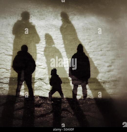 Shadows at Dawlish Warren - Stock Image