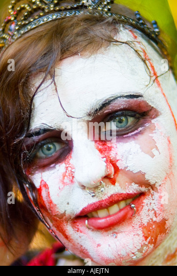undead zombie princess bride - Stock Image