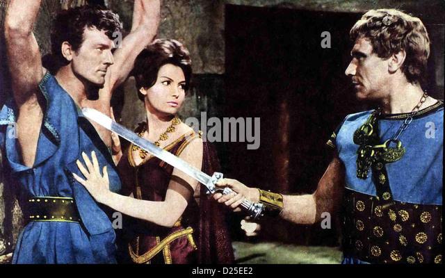 Theseus, Held Von Hellas  Teseo Conro Il Minotauro  Bob Mathias, Rosanna Schiaffino, ? Bei ihrer Flucht aus der - Stock Image
