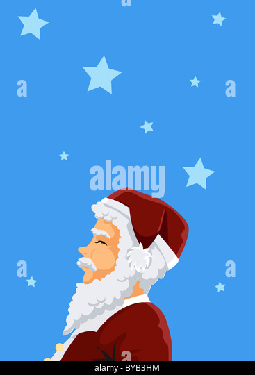 A portrait of Santa Claus - Stock-Bilder