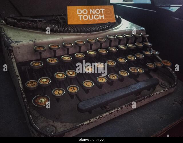 The Type Writer from General Aung San's Office. - Stock-Bilder