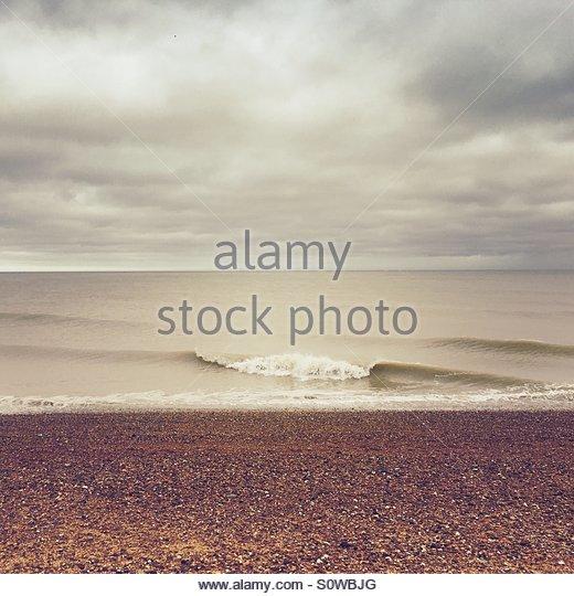 Sea & Beach with Sepia Tone - Stock Image