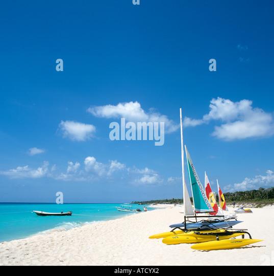 Playacar Beach, Playa del Carmen, Mayan Riviera, Quintana Roo, Yucatan Peninsula, Mexico - Stock Image