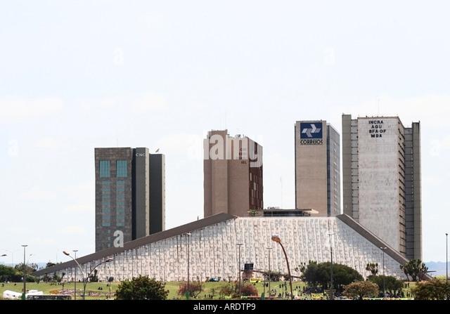 Brasilia's National Theater - Stock Image