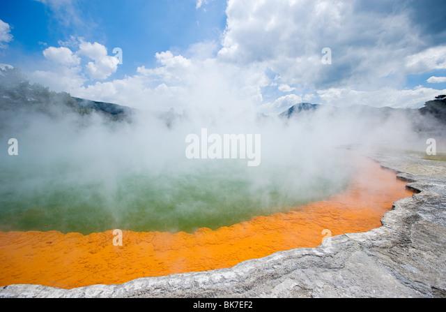 Rotorua, Waiotapu thermal area, Champagne Pool - Stock Image