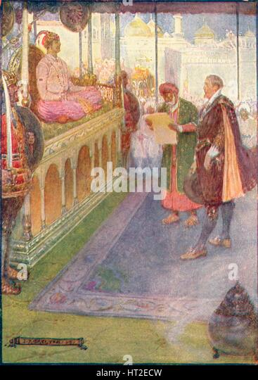 'Sir Thomas Stood Before The Mogul', c1908, (c1920).  Artist: Joseph Ratcliffe Skelton. - Stock Image