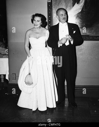Gladys Swarthout, opera singer, and her husband Frank Chapman,  1953 - Stock Image