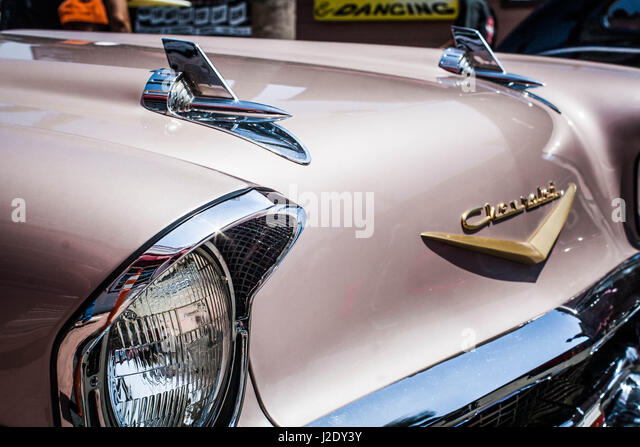 57MauveChevy1461   - Stock Image