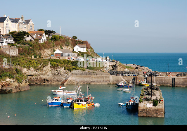 newquay harbour,cornwall,uk - Stock Image