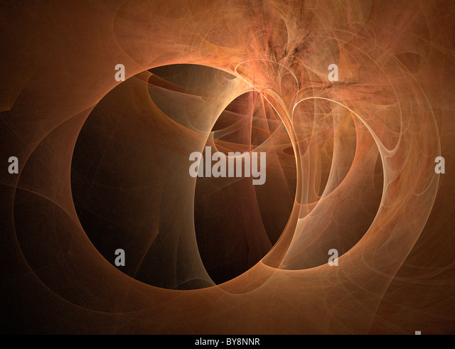 A Fractal Image Entitled Planetary Transsion - Stock Image