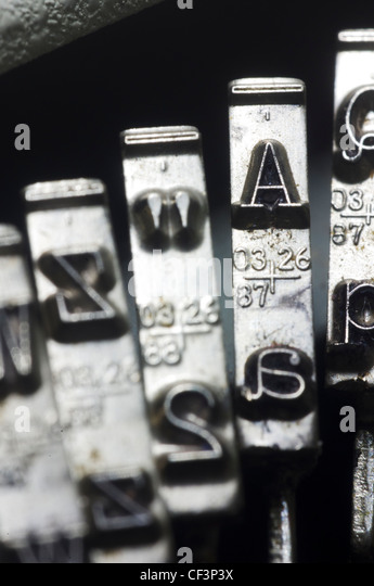 a close up of typewriter key for conceptual usage. - Stock-Bilder