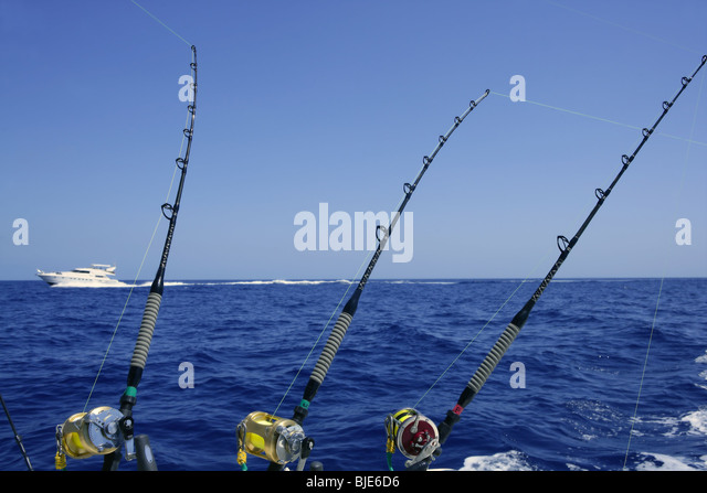 Pole and line tuna fishing stock photos pole and line for Big 5 fishing rods