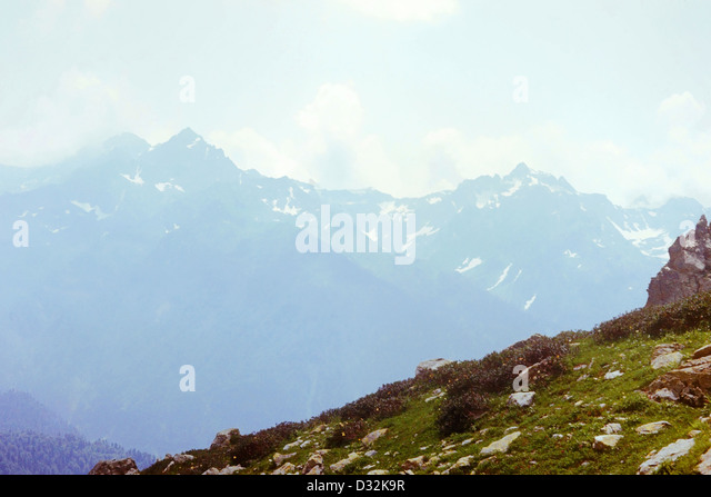 Western Caucasus Mountains in Abkhazia, year 1982 - Stock Image