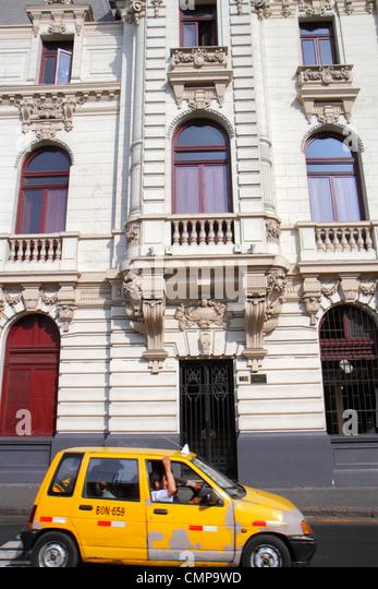 Peru Lima Jiron de la Union Edificio Rímac Casa Roosevelt building street scene Beaux Arts architecture Malachowski - Stock Image