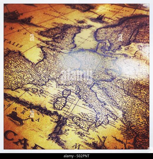 Historical world map - Stock Image