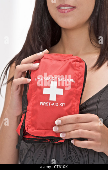 FIRST AID KIT - Stock Image