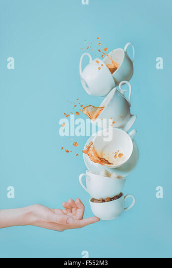 Balancing coffee. - Stock Image
