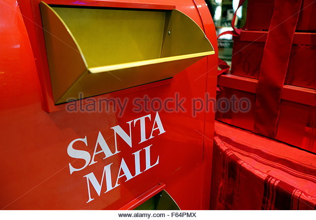 Santa mail - Stock Image