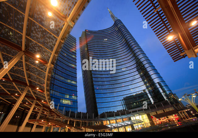 Unicredit tower in Porta Nuova, Milan, Italy - Stock Image