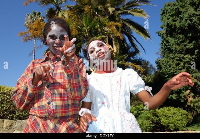 Zombie's Caresse and Clarissa from Santa Maria, California. - Stock Image