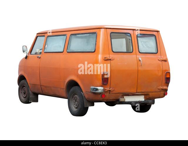 Vintage Transportation Van from Seventies (1970s) - Stock Image