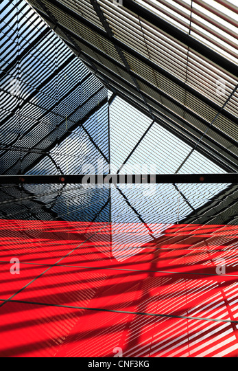 Abstract building lines, reflections and shadows - Stock Image