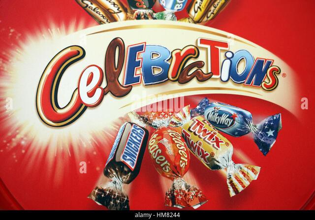 Lid of the Mars Celebrations Tub - Stock Image