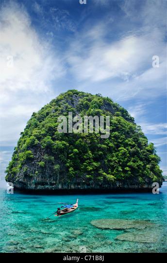 ko phi phi islands thailand - Stock Image