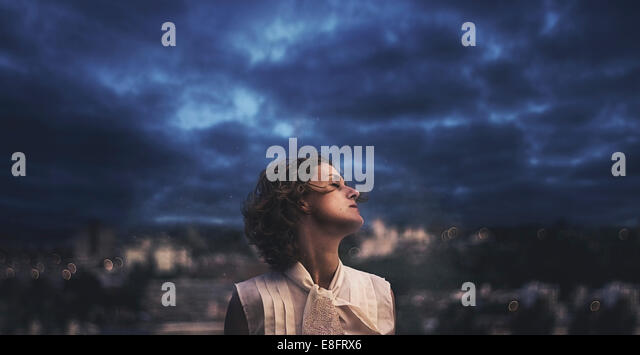 Argentina, Lucy with diamonds in sky - Stock Image