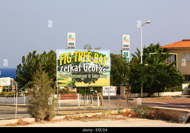 Zefkas George, Fig Tree Bay resaurant, Protaras, Cyprus. - Stock Image