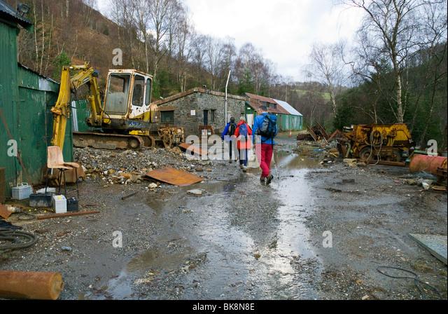 The abandoned Gwyfynydd Gold Mine, Coed-y-Brenin forest, near Dolgellau, Snowdonia, North Wales, UK - Stock Image