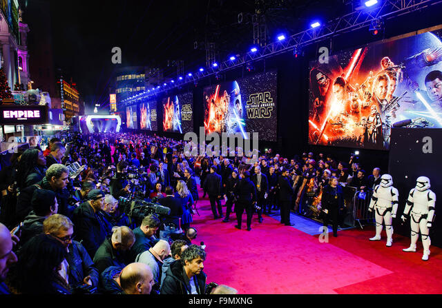 London, UK. 16th December, 2015. European Premiere of 'Star Wars: The Force Awakens' at Leicester Square - Stock Image