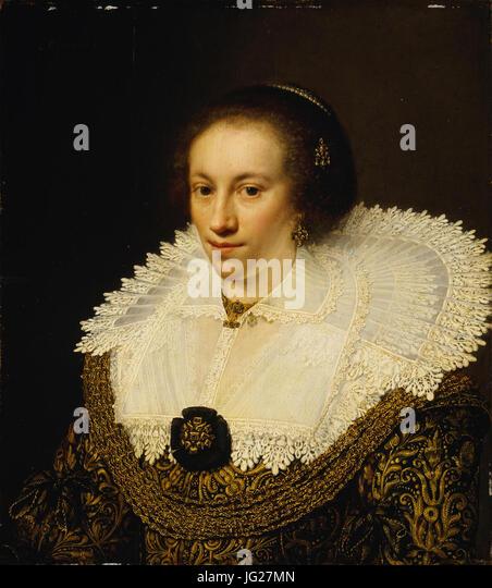 Jan Anthonisz van Ravesteyn (1570-72E288921657)- Maria Odilia Buys (29433097086) - Stock Image