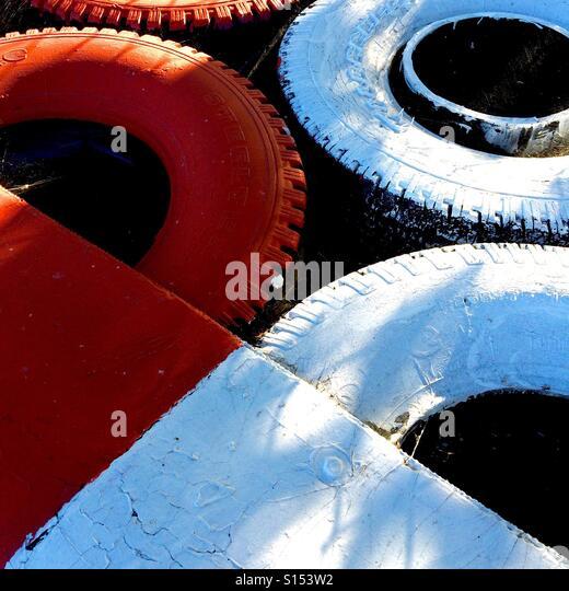 Tire wall - Stock-Bilder