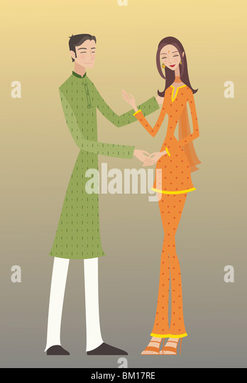 Couple romancing - Stock-Bilder