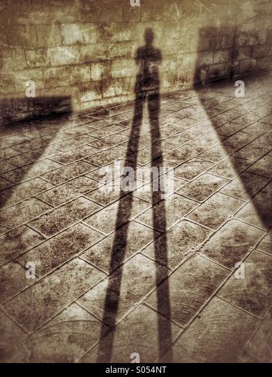 Shadows at dawn - Stock Image