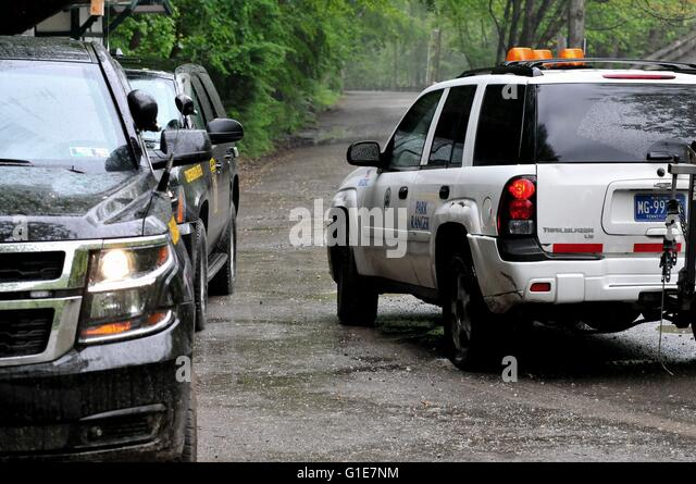Philadelphia, Pennsylvania, USA. 13th May, 2016. Conservation officers with Pennsylvania State Game Commission patrol - Stock Image