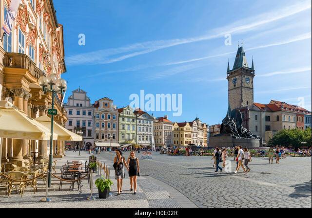 Prague, Czech Republic. The Old Town Square ( Staroměstské náměstí ), Staré Město, Prague, Czech - Stock Image