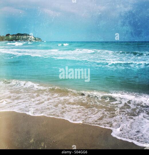 Zakynthos beach - Stock Image