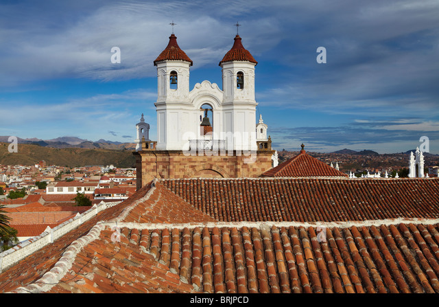 rooftops in Sucre, Bolivia - Stock Image