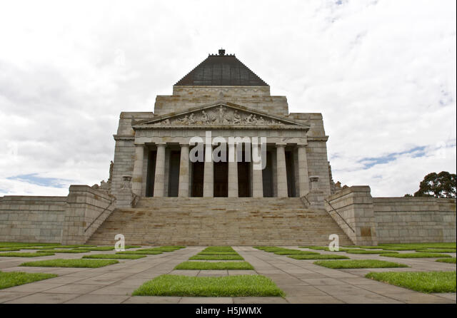 Melbourne historic landmark, Remembrance building in Melbourne, Australia  - taken - December 5th, 2009 - Stock Image