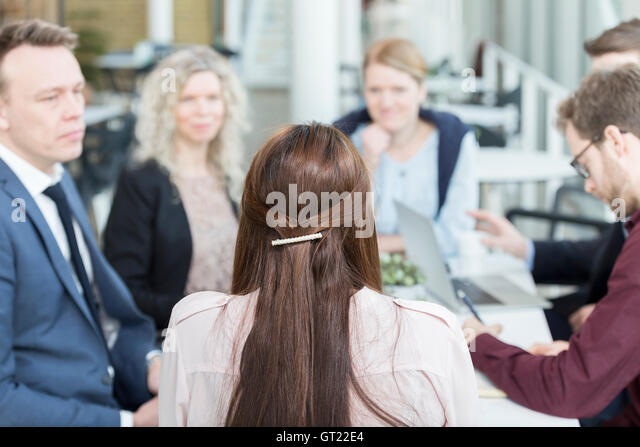 Business people discussing in meeting at office - Stock-Bilder