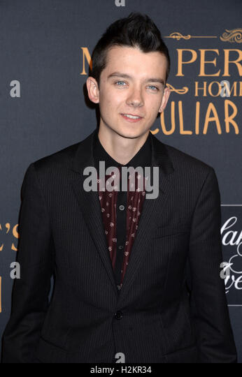 New York City. 26th Sep, 2016. Asa Butterfield attends the 'Miss Peregrine's Home for Peculiar Children' - Stock-Bilder