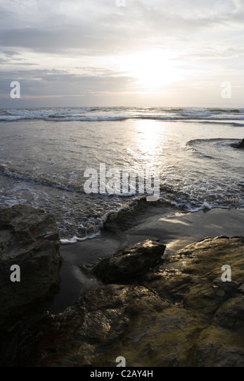 Sunset at Chaung Tha, Myanmar - Stock-Bilder