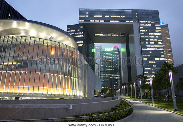 New office buildings for Hong Kong Government civil service in Admiralty Hong Kong - Stock Image