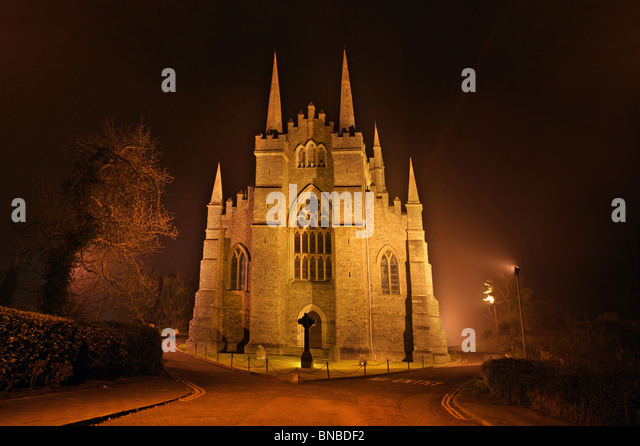 Down Cathedral, Captured at night, Downpatrick. Ireland - Stock Image