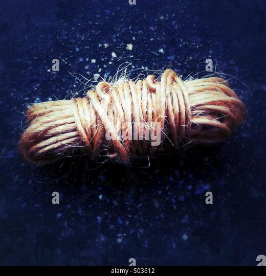 Bundle of twine - Stock Image